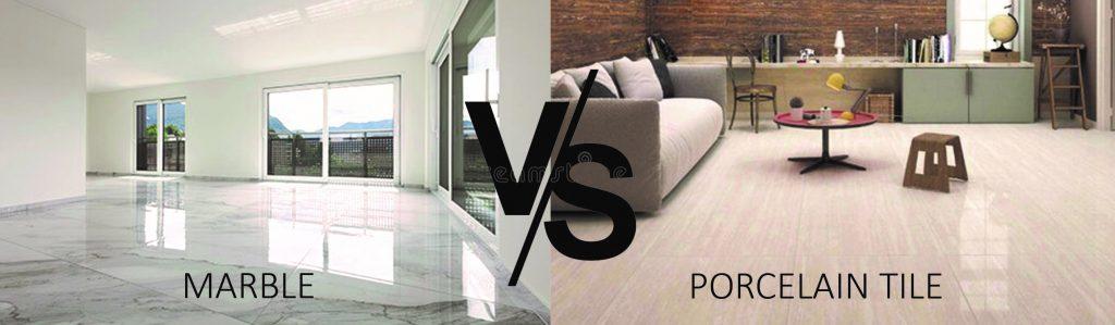 MARBLE FLOOR vs Procelain Tiles
